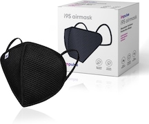 Impulse i95 Airmask Reusable Outdoor Protection Anti Pollution Mask (Black, Pack of 3)