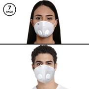 Impulse i95 Airmask Reusable Outdoor Protection Anti Pollution Mask (White, Pack of 7)