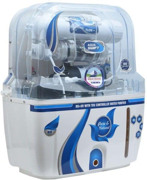 Aqua Grand IFT 10L RO+UV+UF+TDS Water Purifier (White)