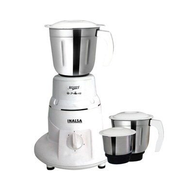 Inalsa Impact 500W Mixer Grinder (White, 3 Jar)