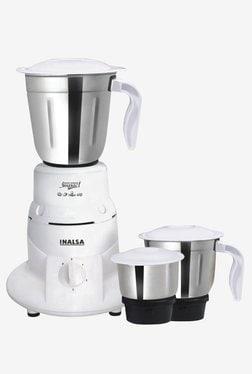 Inalsa Impact 550W Mixer Grinder (White, 3 Jar)