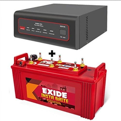 Exide Insta Brite Pure Sine Wave Inverter (Black)