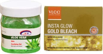 VLCC Insta Glow Gold Bleach (Green, Pack of 2)