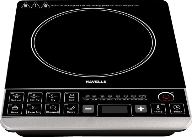 Havells Insta STX 2000 W Induction Cooktops (Black)