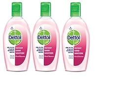 Dettol Instant Floral Essence Hand Sanitizer (50ML, Pack of 3)