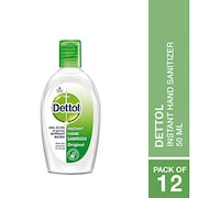 Dettol Instant Hand Sanitizer (50ML, Pack of 12)