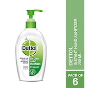 Dettol Instant Hand Sanitizer (200ML, Pack of 6)