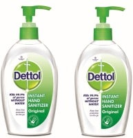 Dettol Instant Hand Sanitizer (200ML, Pack of 2)