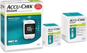 Accu-Chek Instant S Glucometer (10 Strips, White)