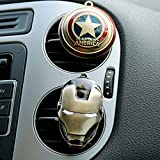 Beauty Panda Iron Man Captain America Shield Car Outlet Perfumes (Multi-Color)