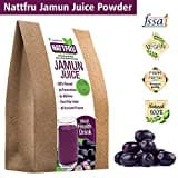 Nattfru Jamun Juice Powder (Jamun, 100GM, Pack of 2, 8 Pieces)