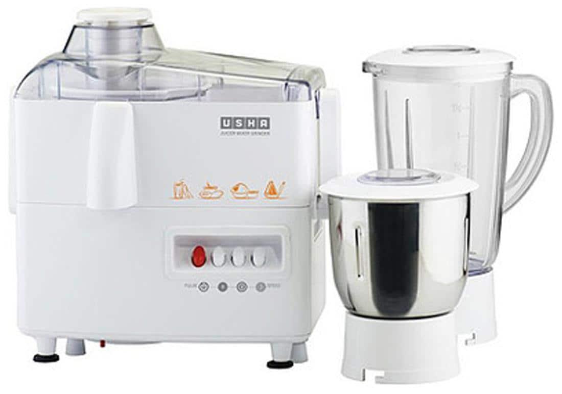 Usha JMG3345 450W Juicer Mixer Grinder (White, 2 Jar)