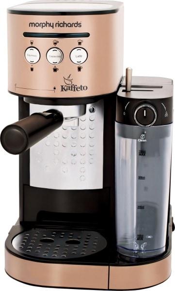 Morphy Richards Kaffeto Coffee Maker (Black & Gold)