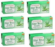 Patanjali Kanti Aloe Vera Body Cleanser Soap (450GM, Pack of 6)