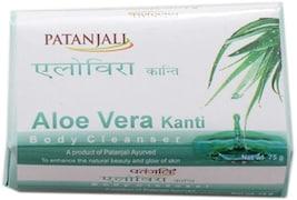 Patanjali Kanti Aloe Vera Body Cleanser Soap (75GM, Pack of 10)
