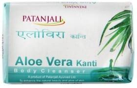 Patanjali Kanti Aloe Vera Body Cleanser Soap (75GM, Pack of 5)