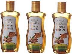 Patanjali Kesh Kanti Almond Hair Oil (100ML, Pack of 3)