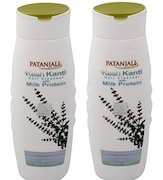 Patanjali Kesh Kanti Milk Protein Hair Cleanser (200ML, Pack of 2)