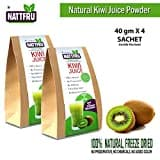 Nattfru Kiwi Fruit Juice Powder (Kiwi Fruit, 80GM, Pack of 2, 4 Pieces)