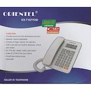 Orientel KXT1577 Corded Landline Phone (White)