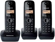 Panasonic KXTG1613 Cordless Landline Phone (Black)