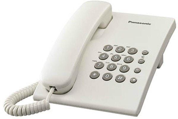 Panasonic KXTS500MX Corded Landline Phone (White)