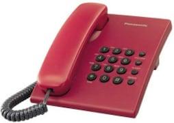 Panasonic KXTS500MX Corded Landline Phone (Red)