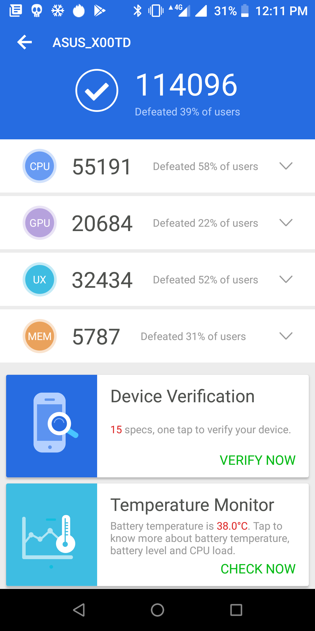 Asus ZenFone Max Pro M1 Benchmarks Images