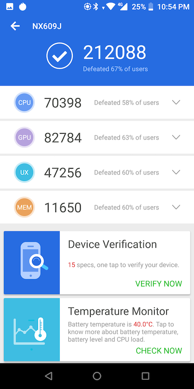 Nubia Red Magic Benchmarks Images