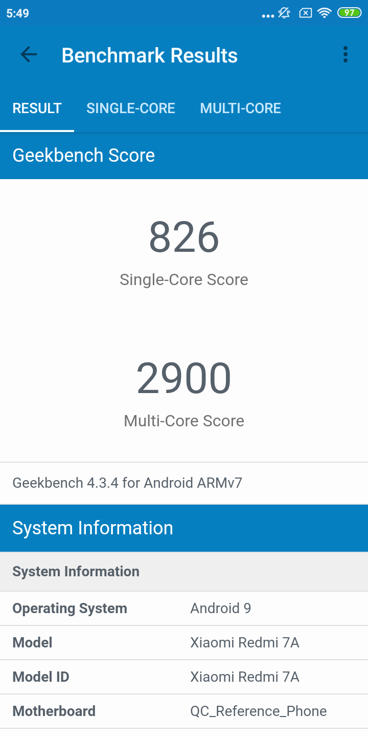 Redmi 7A Benchmarks Images