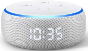 Amazon Echo Dot (3rd Gen) with clock