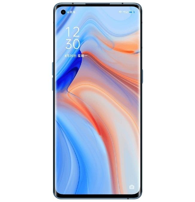 هاتف اوبو Reno4 Pro الذكي، 8 جيجا رام، 256 جيجا بايت (أزرق مجرّي) + علبة هدية تحتوي على شريط عنق بلوتوث وحزام لياقة