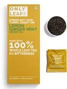 Onlyleaf Lemon Ginger Mint Green Tea (54GM, 27 Pieces)