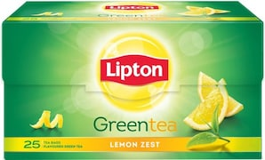 Lipton Lemon Zest Green Tea (15 Pieces)