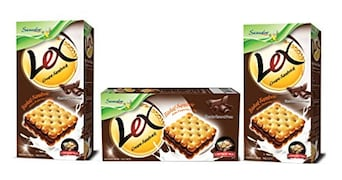 Samudra Lex Cream Sandwich Biscuits (Chocolate, 152GM, Pack of 3)