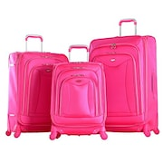 Olympia Luxe Spinner Luggage (Pink, Pack of 3)
