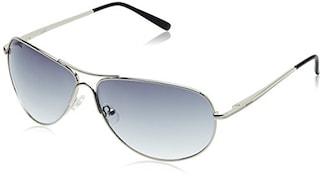 Fastrack M050BU7 Aviator Sunglasses (Blue, Free Size)