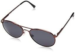 Fastrack M107BK2 Aviator Sunglasses (Black, Free Size)