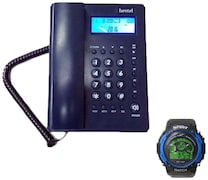 Beetel M53 Corded Landline Phone (Blue)
