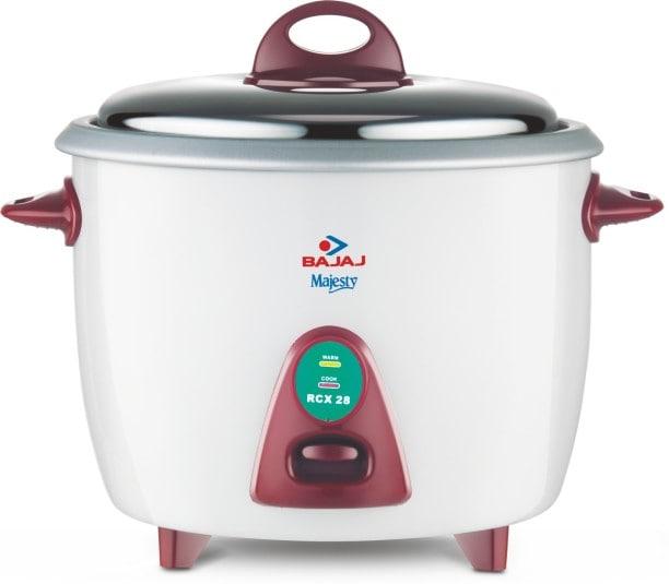 Bajaj Majesty RCX 28 2.8 L Rice Cooker (White & Maroon)