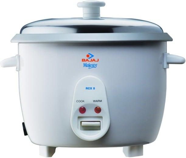 Bajaj Majesty RCX 5 1.8 L Rice Cooker (White)