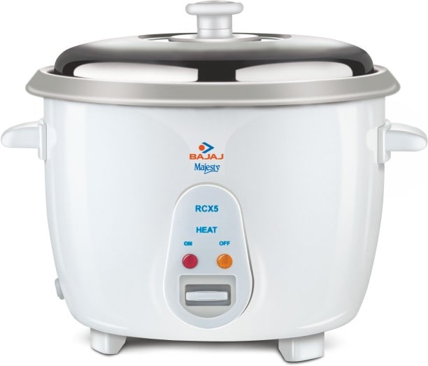 Bajaj Majesty RCX5 1.8 L Rice Cooker (White)