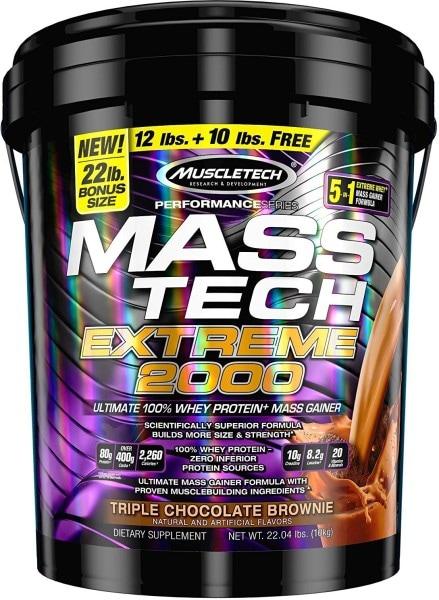 MuscleTech Mass Tech Extream 2000 Dietary Supplements (Chocolate, 9.98KG)