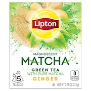 Lipton Matcha Ginger Green Tea (22.4GM, 15 Pieces)