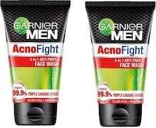 Garnier Men Acno Fight Anti-Pimple Face Wash (200GM, Pack of 2)