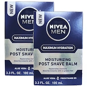 Nivea Men Moisturizing Post Shave Balm Cream (100ML, Pack of 2)