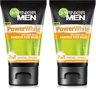 Garnier Men Power White Anti-Dark Cells Face Wash (200GM, Pack of 2)