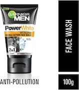 Garnier Men Power White Double Clean Face Wash (100GM)