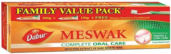 Dabur Meswak Complete Oral Care Toothpaste (300GM, Pack of 2)