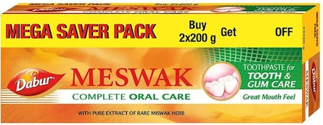 Dabur Meswak Complete Oral Care Toothpaste (200GM, Pack of 2)